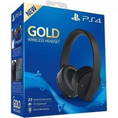 Sony PlayStation Gold Wireless Headset 7.1 Surround Sound PS4 by Playstation