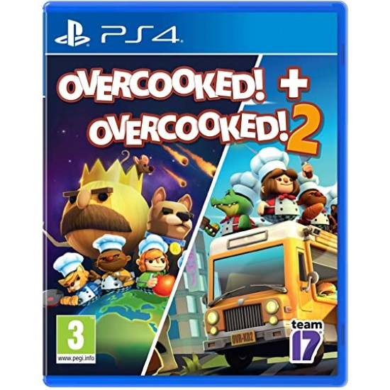 Overcooked 1 And 2 Double Pack - Ps4